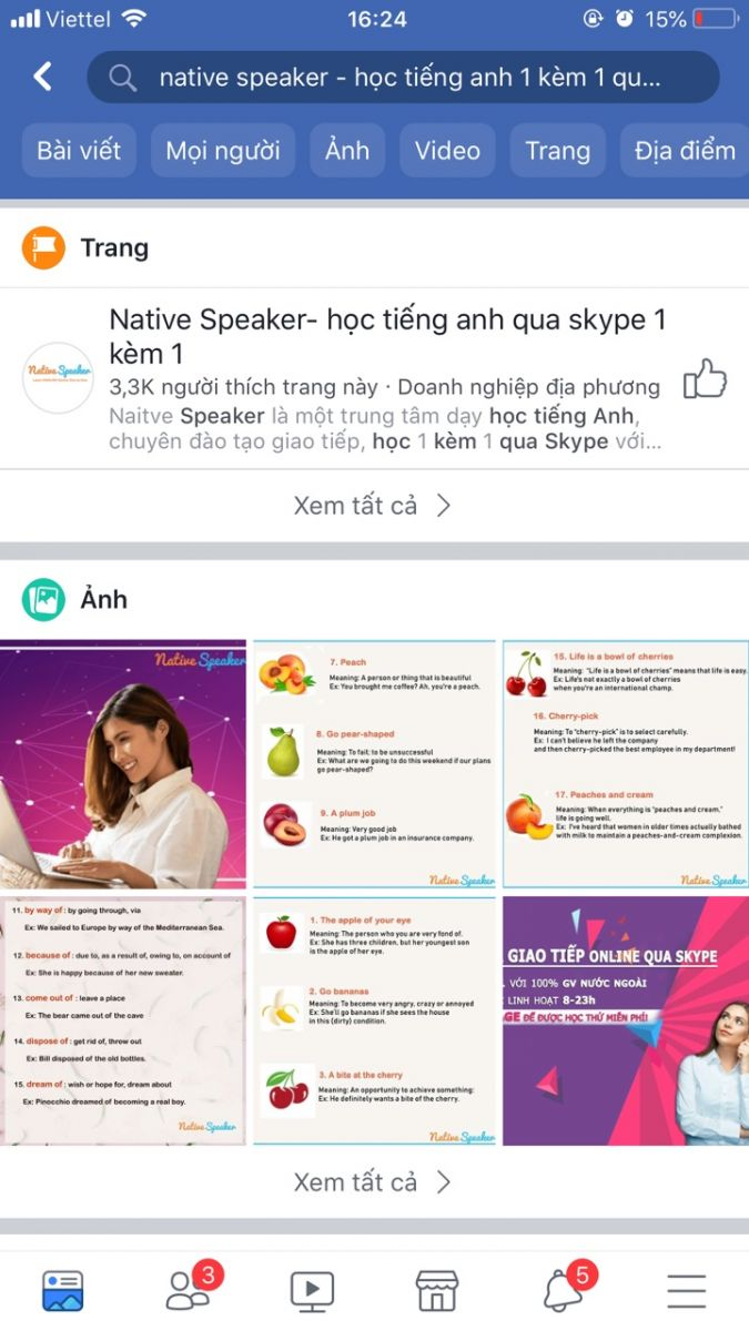 huong dan like share fanpage native speaker